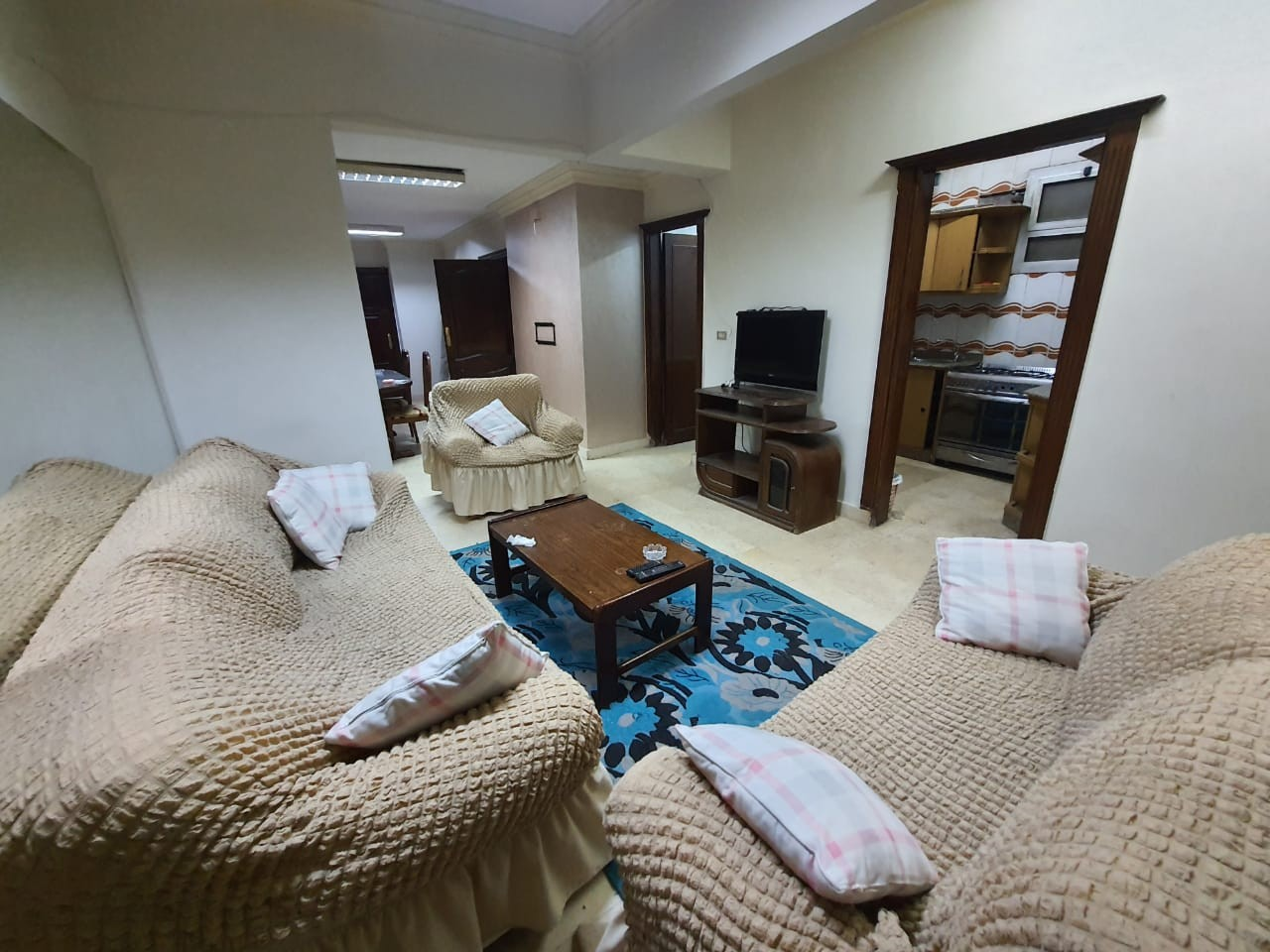 Cozy Furnished Ground Floor Two Bedroom Apartment For Rent In Degla El Maadi - 4886 Featured Image