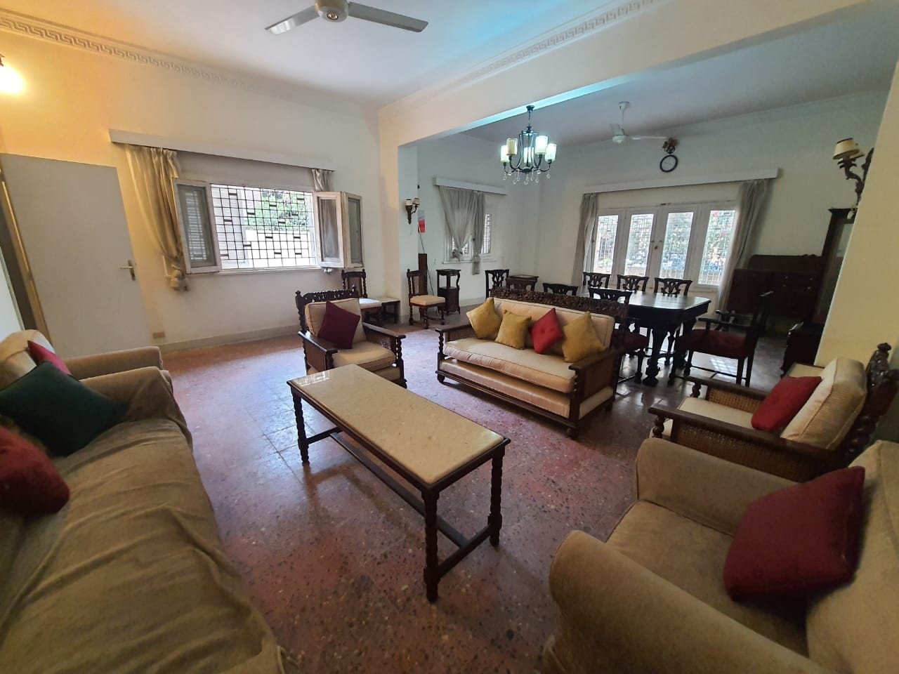 High Ceiling Fully Furnished 2 Bedroom Ground Floor For Rent In Sarayat El Maadi - 4917 Featured Image