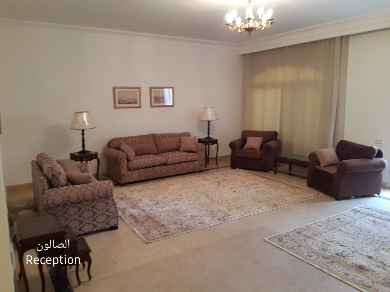 Stunning Furnished Upper Ground Apartment For Rent In West Golf New Cairo - 4891 Featured Image