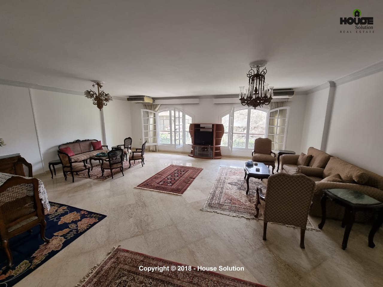 Amazingly Spacious Furnished Apartment For Rent Located In Sarayat El Maadi - 4889 Featured Image