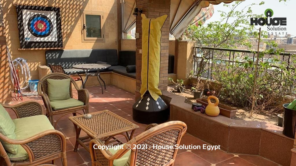 Bright Fully Furnished Penthouse For Rent In Degla El Maadi Near Cairo American College (C.a.c.) - 5034 Featured Image