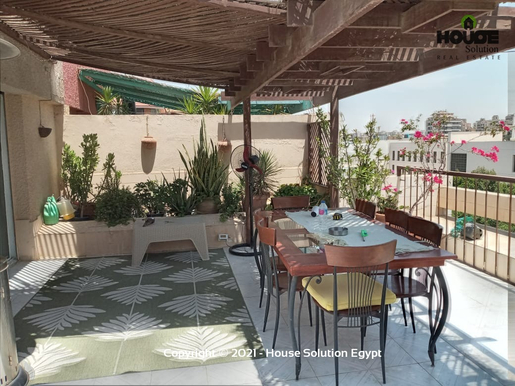Fully Furnished Penthouse Duplex With Amazing Outdoor Area For Rent In Degla El Maadi  - 5017 Featured Image