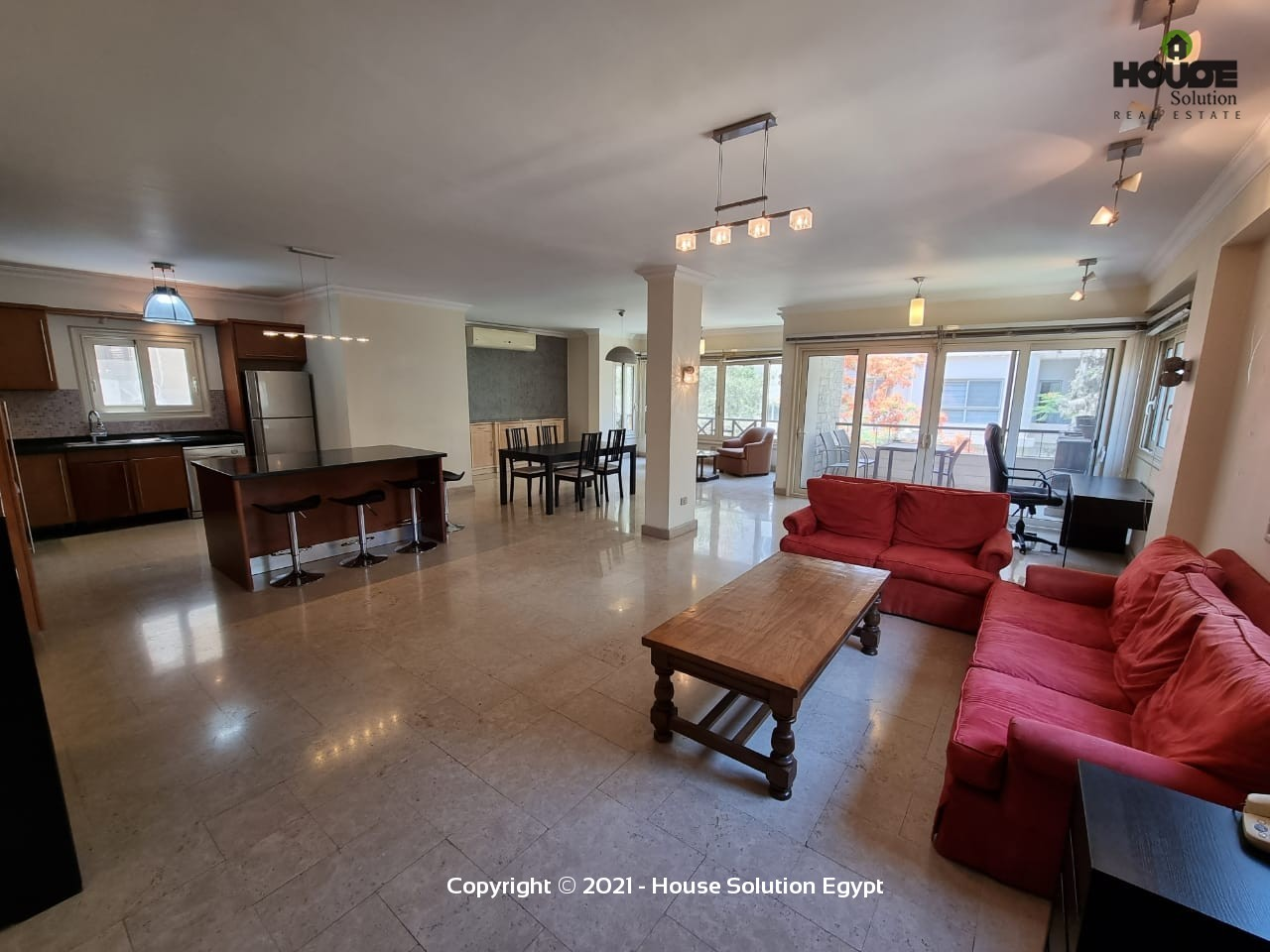 Modern Furnished Apartment With Shared Roof For Rent In Sarayat El Maadi Cairo Egypt - 4964 Featured Image