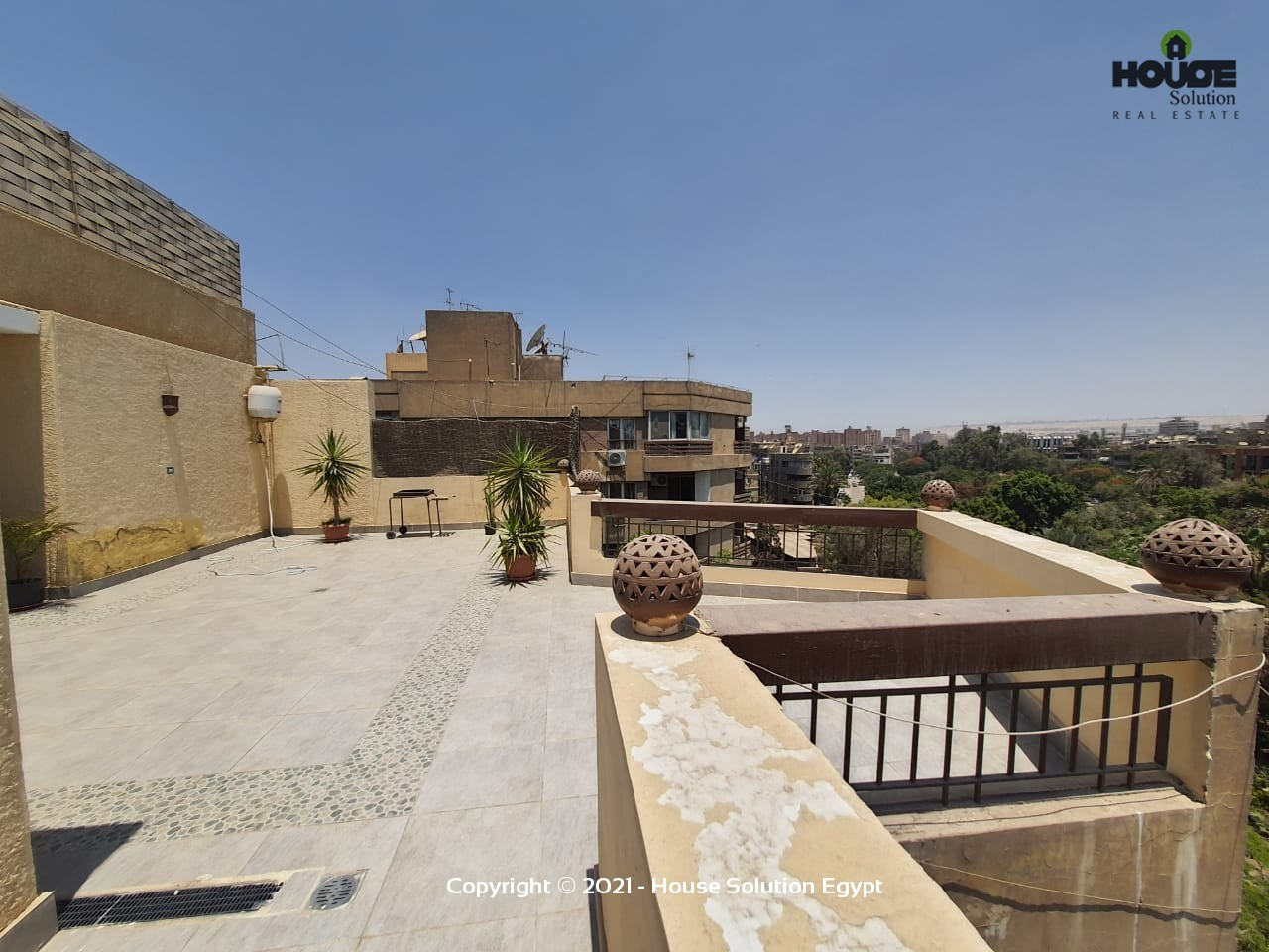 Sunny Furnished Penthouse With Large Terrace For Rent In Sarayat El Maadi  - 5016 Featured Image