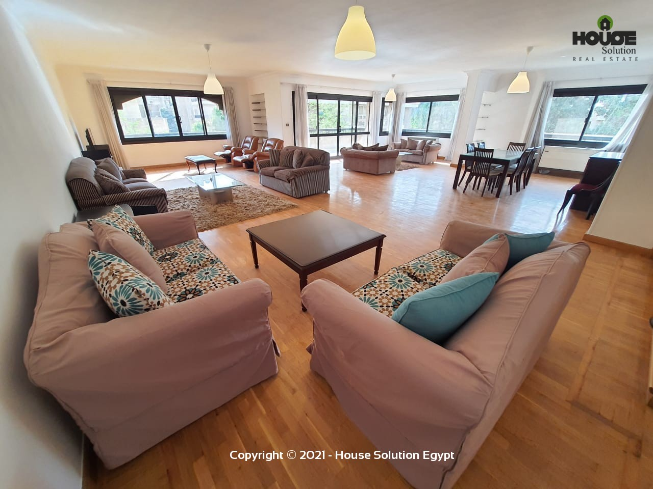Sunny Spacious Furnished Apartment For Rent In Sarayat El Maadi  - 5023 Featured Image